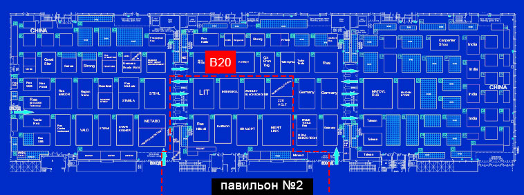 Схема павильонов MITEX 2019