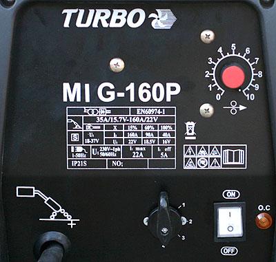 панель полуавтомата MIG160